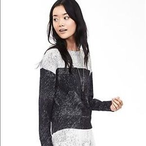 Banana Republic Colorblock Jacquard Sweatshirt